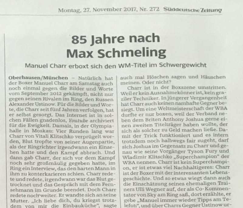 85 nach Max Schmeling