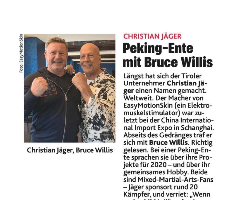 20191120 Krone Zeitung Peking-Ente mit Bruce Willis