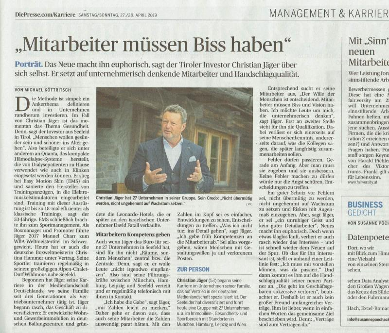 2019 04 27 Die Presse_Leadership