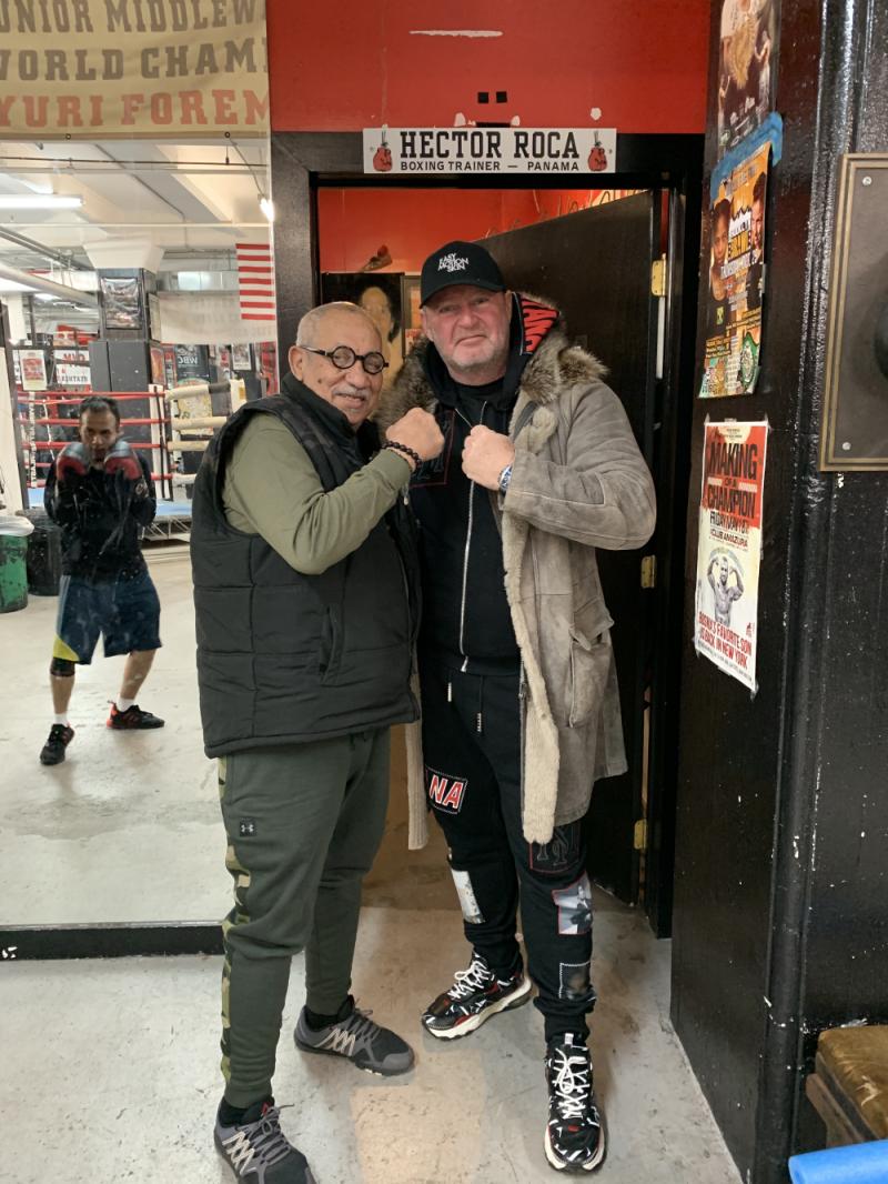 Mit Hector Roca in Brooklyn