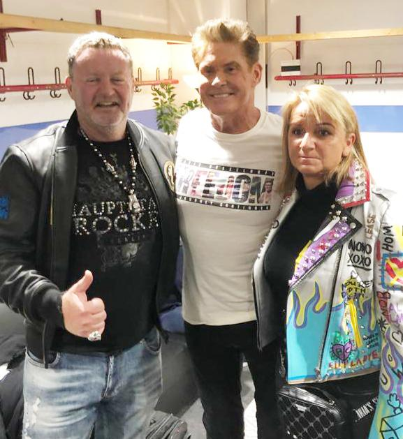 with David Hasselhoff & Brigitte Prömer