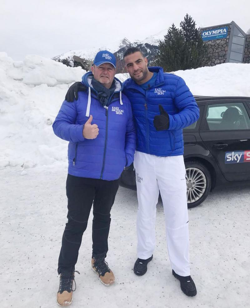 At the Alpenchalet with Manuel Charr
