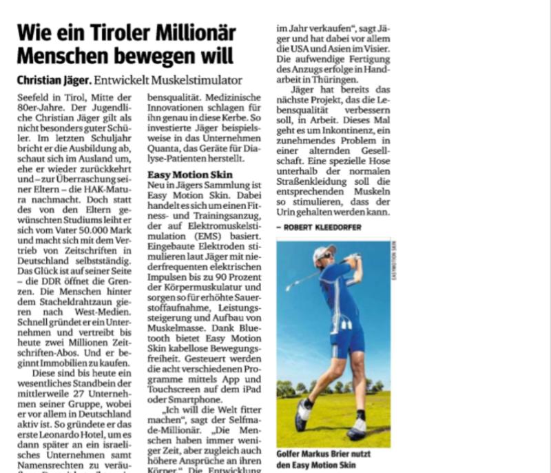 Tiroler Millionär Menschen bewegen