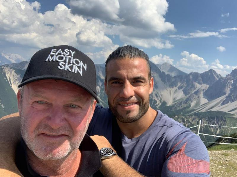 with Manuel Charr in Tirol, 2020